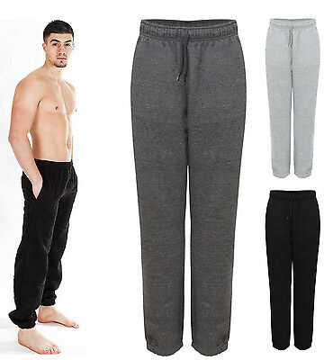 New Mens Tracksuit Fleece Jogging Zip Pockets Activewear Gym Casual Bottoms