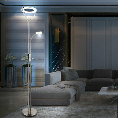 led deckenfluter arik modern leselampe led stehlampe. Black Bedroom Furniture Sets. Home Design Ideas