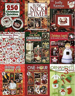 Christmas Holiday Crafting Books-Xmas Crochet Knitting Ornaments Home Decor Art