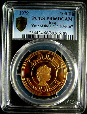 Pcgs-Pr66Dc 1979 Iraq 100Dinar Child Gold Proof