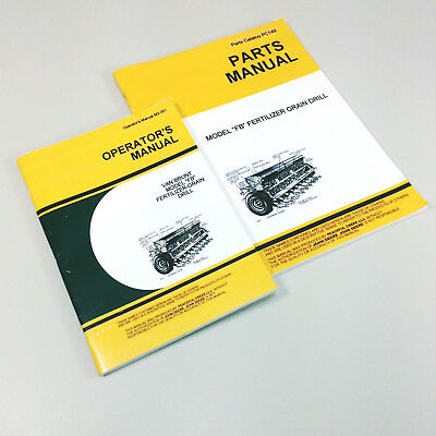 Lot John Deere Van Brunt Fb Grain Drill Parts Owners Operators Manuals Catalog