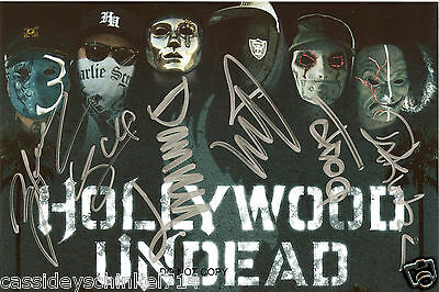 "Hollywood Undead band Reprint Signed 8x12"" Poster Photo RP by ALL 6 Members"