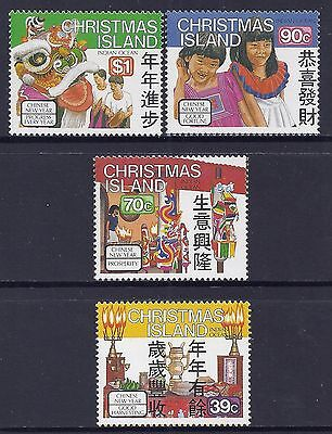 1989 Christmas Island Chinese New Year Set Of 4  Fine Mint Mnh/muh