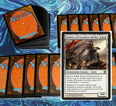 mtg WHITE AURAS BESTOW DECK Magic the Gathering rare cards