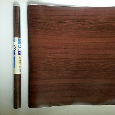 9ft Chestnut brown Wood Grain decorative self adhesive contact paper wallpaper