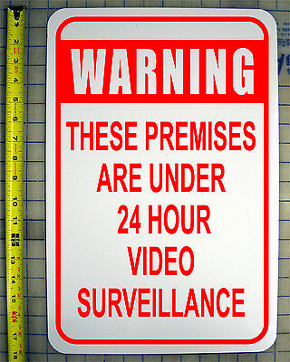 "VIDEO SURVEILLANCE 12"" X 18"" ALUMINUM SIGN style a"