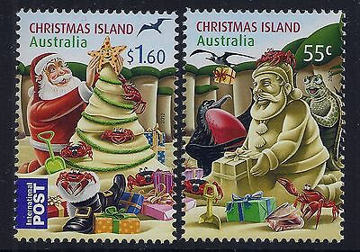 Christmas Island 2012 Christmas Set Of 2 Fine Mint Mnh/muh