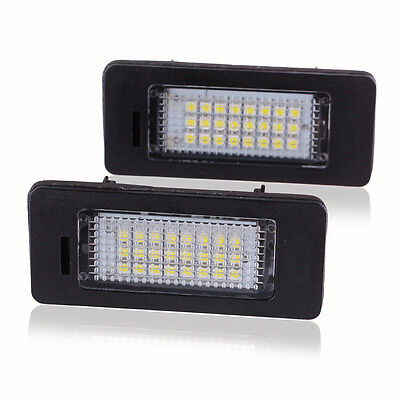 Newest 2x 24 LED Number License Plate Light Lamp For Audi A4 A5 Q5 S5 VW PASSAT