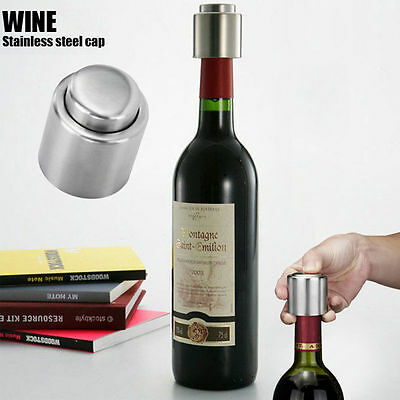 Stainless steel Vacuum Sealed Champagne Red Wine Storage Bottle Stopper Cap New