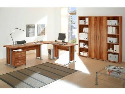 b ro office line megaset b rom bel komplettset eiche schreibtisch regale 109567 eur 897 00. Black Bedroom Furniture Sets. Home Design Ideas