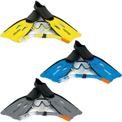 Osprey Snorkel, Mask & Fin Flippers Snorkelling Diving Swimming Set 4 Sizes!!
