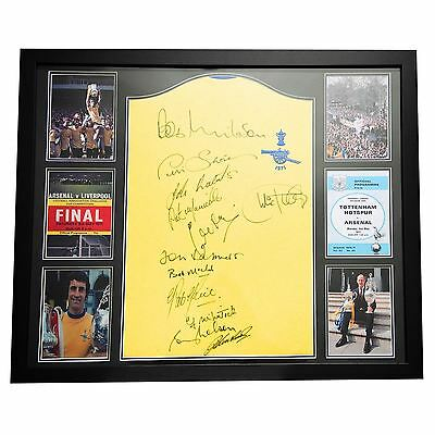 Team 1971 FA Cup Final Signed Shirt Picture Frame Sports Gifts Accessories