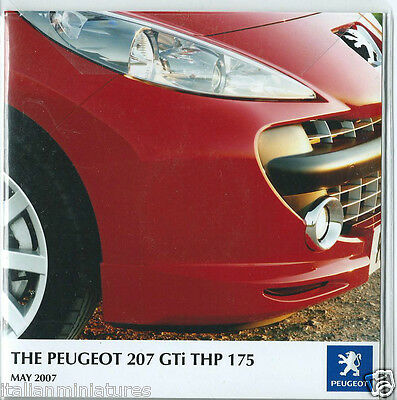 Peugeot 207 GTi THP 175 2007 Press Release CD Photograph Gallery Press Pack