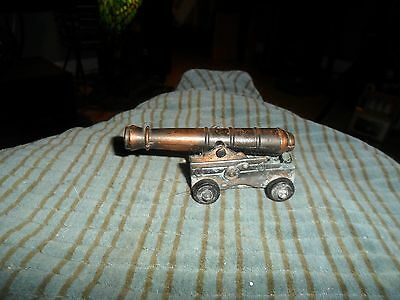 Vintage BRONZE TONE CANNON Pencil Sharpener CUTE !