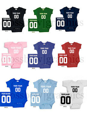 CUSTOM Infant Creeper Bodysuit Jersey PERSONALIZED One-Piece Baby Shower Cute!