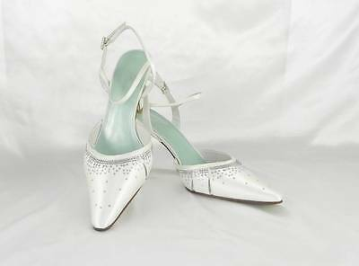 AUTHENTIC Fifi by Filippa Scott London Nicole Bridal Shoes Size 9 1/2 White NEW