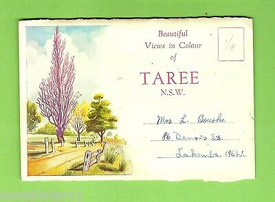 #D227.  1940s / 1950s  FOLDOUT SOUVENIR POSTCARD VIEWS OF TAREE NSW