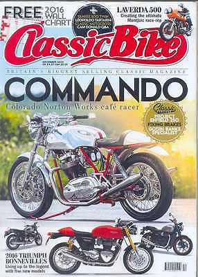 CLASSIC BIKE- December 2015 Issue - (NEW)*Post Included To UK/Europe/USA/Canada