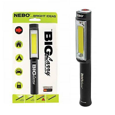 NEW Nebo BIG LARRY Work Light & Emergency Red Flasher with Batteries