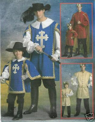 OOP Adult King 3 Musketeers PATTERN Medieval Prince costume McCalls 5214 sz34-48