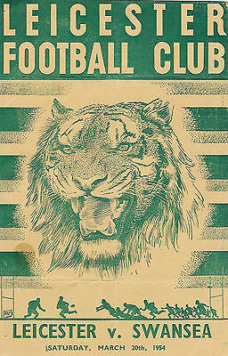 Leicester v Swansea 20 Mar 1954 RUGBY PROGRAMME
