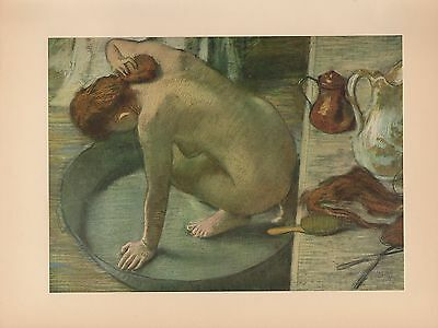 "1951 Vintage DEGAS /""POUTING/"" FAMOUS COLOR Art Print Lithograph"