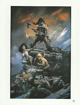 """1996 Full Color Plate /"""" Beauty and the Beast /""""by Frank Frazetta Fantastic GGA"""