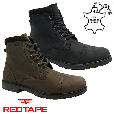 New Mens Real Leather Military Biker Chukka Desert Combat Ankle Boots Shoes Size