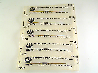 Motorola 1N5239B 9.1V 500mW 5% Zener Voltage Regulator Diode 5 Pieces OMA74