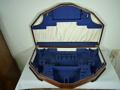 FLATWARE or CUTLERY ENGLISH FITTED CHEST BOX MEDIUM OAK 6 PLACES FORMAL + ENG2