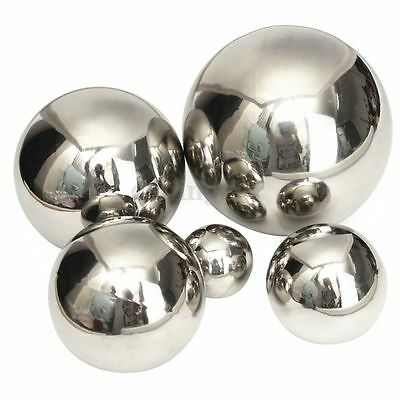 5 Size Stainless Steel Mirror Sphere Polished Hollow Ball Home Garden Ornament