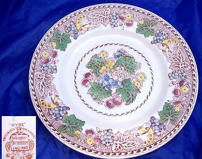 Enoch & Ralph Woods England Hyde Polychrome Transfer Luncheon Plate Mult Avail