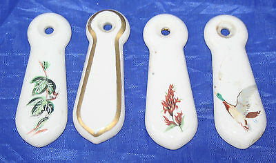 Vintage China Keyhole Cover Plates  -  4 Assorted plates, 1 plain, 3 decorated.