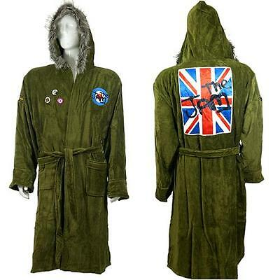 The Jam - Fishtail Hooded Parka Cotton Bathrobe / Dressing Gown - New & Official