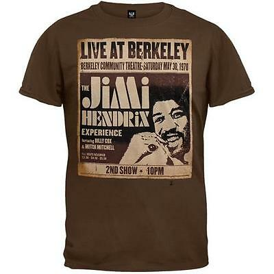 Jimi Hendrix - Live At Berkeley Mens Short Sleeve T-Shirt Clothing New Official