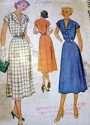 LOVELY VTG 1950s DRESS McCALL Sewing Pattern 14/32
