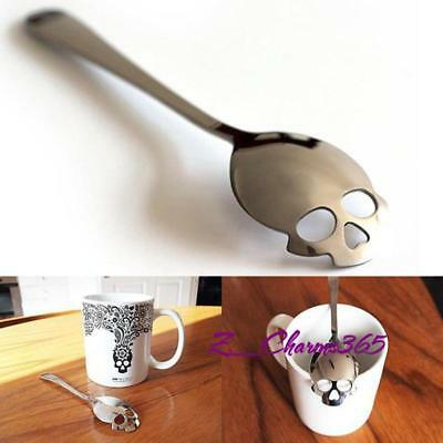 Home Stainless Steel Sugar Skull Spoon Collectible Silverware For Tea Coffee Z