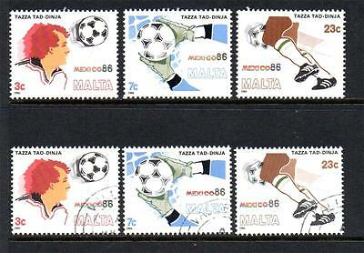 Malta Mnh & Fine Used 1986 Sg781-783 World Cup Football - Mexico Sets Of 3