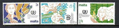 Malta Mnh 1985 Sg756-758 International Youth Year Set Of 3