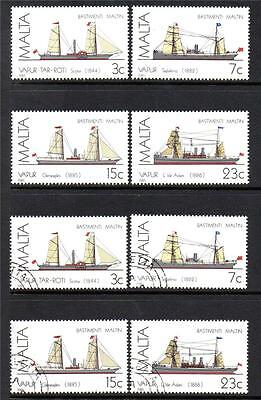 Malta Mnh & Fine Used Sg772-775 Maltese Ships (3Rd Series) Steamships Sets Of 4