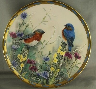 Catherine McClung Summer Interlude Natures Collage Collector Plate Lenox 1992