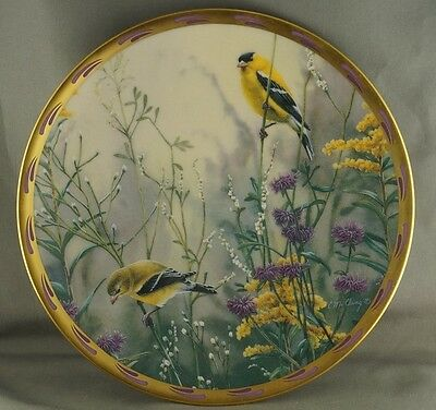 Catherine McClung Golden Splendor Natures Collage Collector Plate Lenox 1992