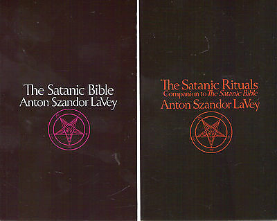 Lot of 2 Books Satanic Bible and Satanic Rituals (Anton La Vey) Lavey Paperback