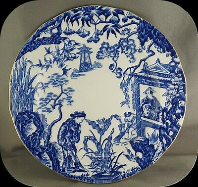 Royal Crown Derby Blue Mikado Salad Plate Year 1954