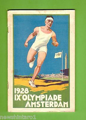 #d228.  1928 Amsterdam  Olympic Games Tourist   Booklet & Map