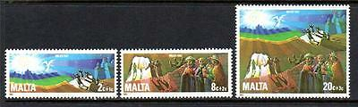Malta Mnh 1982 Sg698-700 Christmas Set Of 3