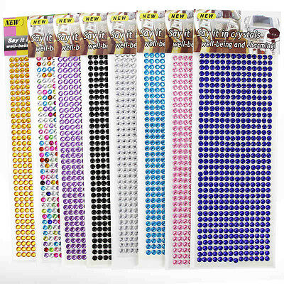 Self Adhesive Glitter Crystals Gems Jewels Sticker On Diamante Rhinestones Strip