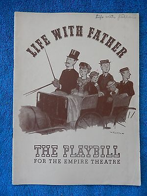 Life With Father - Empire Theatre Playbill - May 26th, 1941 - Howard Lindsay