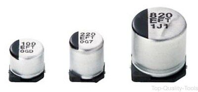 SMD Aluminium Electrolytic Capacitor, Radial Can - SMD, 68 µF, 35 V, 0.26 ohm, F