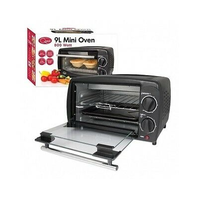 Mini Oven Cooker Grill Bake Small Space Kitchen Counter Table Compact Electric